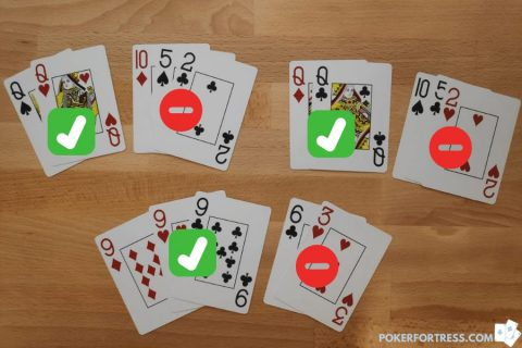 easy to learn 5 card draw with examples.