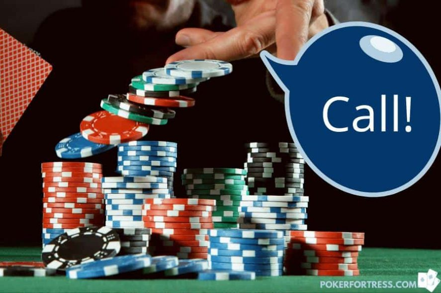Example of a call in poker.