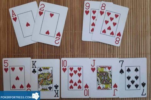 nut flush vs flush di poker